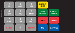 886542-091ND Wayne VISTA Keypad Overlay