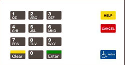 Gilbarco ENCORE/ECLIPSE Keypad Overlay