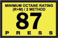 R60030-12   Advantage Switch Graphic - 87 Octane Yellow