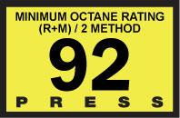 R60030-22   Advantage Switch Graphic - 92 Octane Yellow