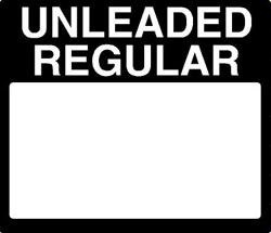 Gilbarco PPU Product ID Overlay - UNLEADED REGULAR