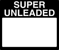 Gilbarco PPU Product ID Overlay - SUPER UNLEADED
